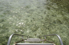 Σκαλοπάτια στη θάλασσα Στοκ φωτογραφίες με δικαίωμα ελεύθερης χρήσης