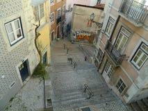 Σκαλοπάτια στη Λισσαβώνα Στοκ Εικόνες