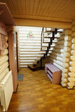 Σκαλοπάτια στο ξύλινο σπίτι Στοκ Φωτογραφίες