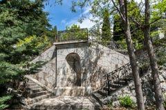 Σκαλοπάτια στο πάρκο Artek Στοκ Εικόνα