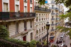 Σκαλοπάτια του Παρισιού Montmartre σε Sacre Coeur Στοκ Φωτογραφίες