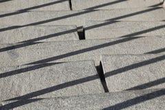 Σκαλοπάτια τσιμεντένιων ογκόλιθων Στοκ Εικόνες