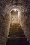Σκαλοπάτια υπογείων στο παλαιό κάστρο Στοκ Εικόνες
