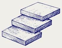 Σκαλοπάτι τριών βημάτων Στοκ εικόνες με δικαίωμα ελεύθερης χρήσης