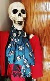 Σκελετός αποκριών στο μουσείο σημείου εισόδου του Edgar Allan στο Ρίτσμοντ, Βιρτζίνια ΗΠΑ στοκ φωτογραφία με δικαίωμα ελεύθερης χρήσης