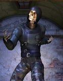Σκελετός στην εξάρτηση ninja Στοκ Εικόνες