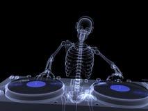σκελετός Χ ακτίνων 2 DJ Στοκ εικόνα με δικαίωμα ελεύθερης χρήσης