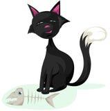 σκελετός ψαριών γατών Στοκ εικόνες με δικαίωμα ελεύθερης χρήσης