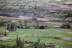 Σκεπασμένο με τέντα στρατόπεδο στην κοιλάδα Nubra, Ladakh, Ινδία Στοκ Φωτογραφίες