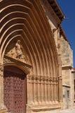 Σκεπαστή είσοδος πρόσοψης της εκκλησίας του San Juan σε Aranda de Duero, Στοκ εικόνα με δικαίωμα ελεύθερης χρήσης