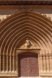 Σκεπαστή είσοδος πρόσοψης της εκκλησίας του San Juan σε Aranda de Duero, Burgos επαρχία, Στοκ εικόνες με δικαίωμα ελεύθερης χρήσης