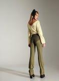 Σκεπτική γυναίκα μόδας Στοκ Εικόνες