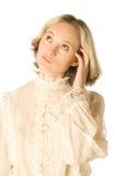 σκεπτική γυναίκα Στοκ εικόνες με δικαίωμα ελεύθερης χρήσης