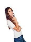 Σκεπτικό ελκυστικό κορίτσι Στοκ φωτογραφίες με δικαίωμα ελεύθερης χρήσης