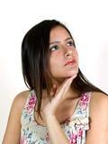 σκεπτόμενη γυναίκα πορτρέτου Στοκ Φωτογραφία