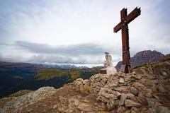 Σκεπτόμενο άγαλμα Χριστού Στοκ Εικόνες