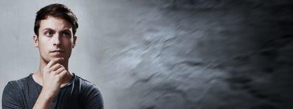 Σκεπτόμενο άτομο Στοκ Φωτογραφία