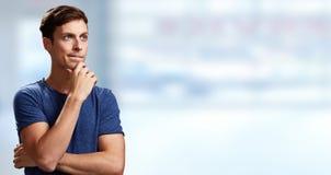 Σκεπτόμενο άτομο Στοκ φωτογραφία με δικαίωμα ελεύθερης χρήσης