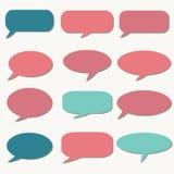 Σκεπτόμενο πλαίσιο γραφικό διάνυσμα λεκτικής ομιλίας προσώπων φυσαλίδων Σύννεφο ονείρου Μπαλόνι συζήτησης Απόσπασμα β Στοκ Φωτογραφία