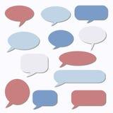 Σκεπτόμενο πλαίσιο γραφικό διάνυσμα λεκτικής ομιλίας προσώπων φυσαλίδων Σύννεφο ονείρου Μπαλόνι συζήτησης Απόσπασμα β Στοκ φωτογραφίες με δικαίωμα ελεύθερης χρήσης