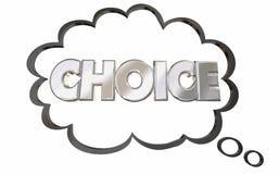 Σκεπτόμενο το επιλογή σύννεφο επιλέγει την επιλογή του Word επίλεκτη Στοκ φωτογραφία με δικαίωμα ελεύθερης χρήσης