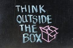 Σκεφτείτε έξω από το κιβώτιο Στοκ Εικόνα