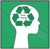 Σκεφτείτε ανακύκλωσης Στοκ φωτογραφίες με δικαίωμα ελεύθερης χρήσης