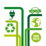 Σκεφτείτε πράσινος ελεύθερη απεικόνιση δικαιώματος