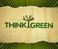 Σκεφτείτε πράσινος στοκ εικόνες με δικαίωμα ελεύθερης χρήσης