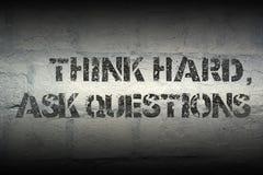 Σκεφτείτε σκληρά, ρωτήστε GR Στοκ Φωτογραφίες