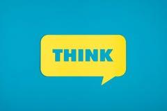 Σκεφτείτε τη λέξη αποκόπτω? στη φυσαλίδα Στοκ Εικόνες
