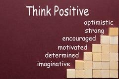 Σκεφτείτε τη θετική έννοια στοκ εικόνα