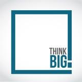 σκεφτείτε τη μεγάλη απεικόνιση έννοιας παραθύρων κειμένου ελεύθερη απεικόνιση δικαιώματος
