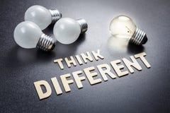 Σκεφτείτε το διαφορετικό και διαφορετικό βολβό Στοκ Φωτογραφία
