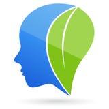 Σκεφτείτε το πράσινο πρόσωπο διανυσματική απεικόνιση