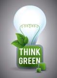 Σκεφτείτε το πράσινο σχέδιο Στοκ εικόνα με δικαίωμα ελεύθερης χρήσης