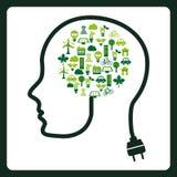 Σκεφτείτε το πράσινο σχέδιο Στοκ Εικόνες