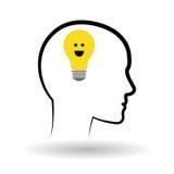 Σκεφτείτε το σχέδιο, το θετικό και την έννοια ιδέας Στοκ Εικόνες