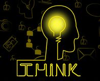 Σκεφτείτε ότι ο εγκέφαλος αντιπροσωπεύει την αντανάκλαση ιδέας και εξετάστε απεικόνιση αποθεμάτων