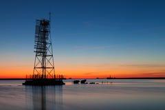 Σκελετικός ελαφρύς πύργος πλαισίων Στοκ εικόνες με δικαίωμα ελεύθερης χρήσης