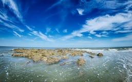 Σκηνές παραλιών στη νότια Καρολίνα νησιών κυνηγιού Στοκ φωτογραφία με δικαίωμα ελεύθερης χρήσης