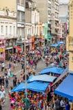 Σκηνές στην οδό που πωλεί όλα τα είδη προϊόντων στη Βραζιλία στοκ εικόνες