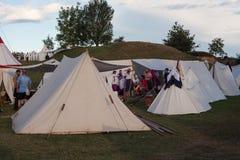 Σκηνές στο στρατιωτικό στρατόπεδο Στοκ φωτογραφίες με δικαίωμα ελεύθερης χρήσης