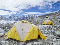 Σκηνές στο στρατόπεδο βάσεων Everest, Νεπάλ. στοκ εικόνες με δικαίωμα ελεύθερης χρήσης