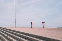 Σκηνές φόρουμ της Βαρκελώνης Στοκ Φωτογραφία
