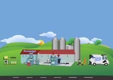 σκηνή αγροτικής αστεία απεικόνισης κινούμενων σχεδίων Στοκ φωτογραφίες με δικαίωμα ελεύθερης χρήσης