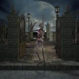 σκηνή αποκριών zombie Στοκ Εικόνα