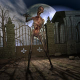 σκηνή αποκριών zombie Στοκ Φωτογραφία