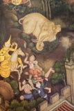 Σκηνή από το Ramayana wat po Μπανγκόκ Στοκ εικόνα με δικαίωμα ελεύθερης χρήσης