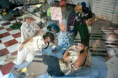 Σκηνή από Ubu Roi από το Alfred Jarry - το Μαϊάμι στοκ φωτογραφίες